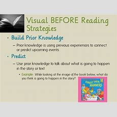 Reading Comprehension Using Visual Strategies