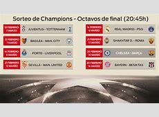 Calendario de octavos de la Champions 2017 2018 Fechas