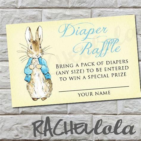 diaper raffle peter rabbit baby shower instant