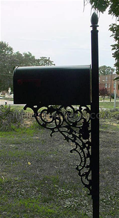 wrought iron mailbox post perpetua iron mailbox page 1666