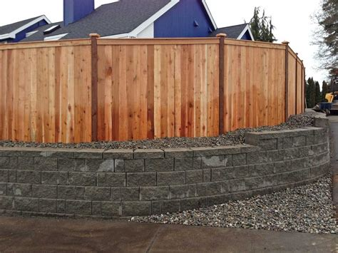 Spanaway Retaining Wall And Privacy Fence-ajb