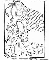 Flag Coloring American Pages 8bd2 Printable Info sketch template