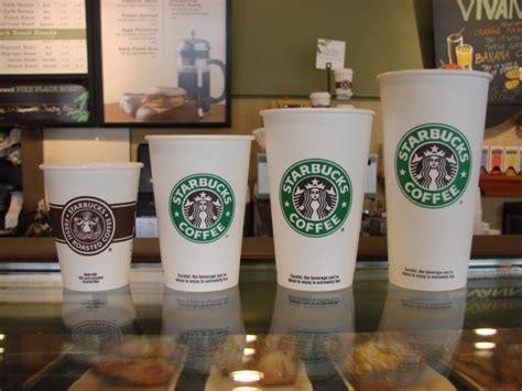 starbuck sizes starbucks menu coffee sizes