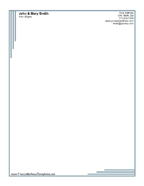 formal business letterhead