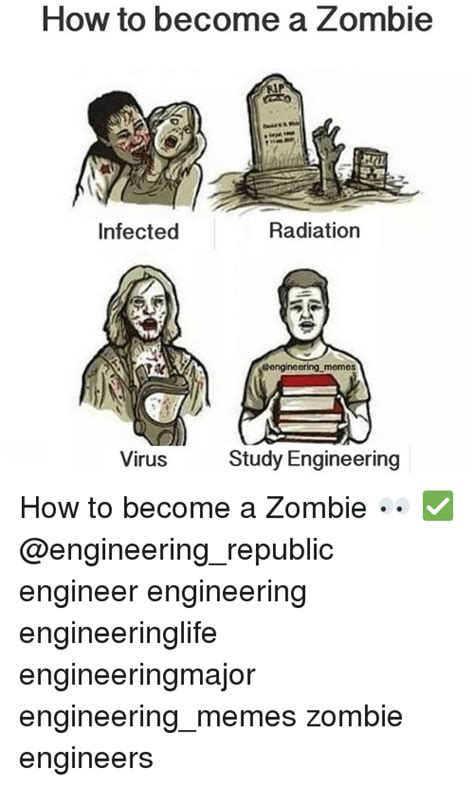 How To Become A Meme - how to become a zombie radiation infected memes study engineering virus how to become a zombie