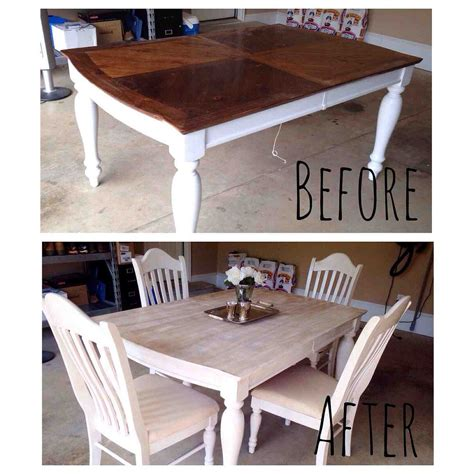 Painted Kitchen Furniture by Painting Staining A Kitchen Table Hometalk