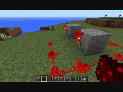 minecraft how to make a flashing redstone circuit youtube