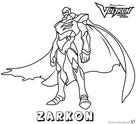 voltron coloring pages zarkon  printable coloring pages