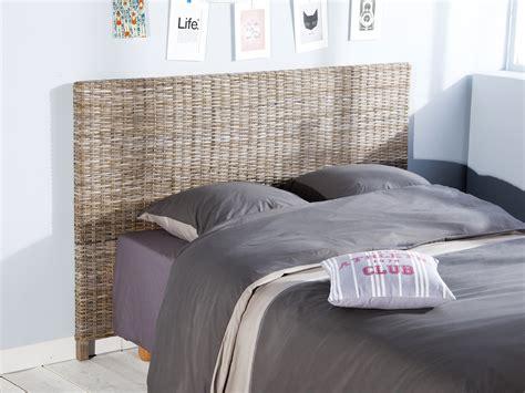 chaise rotin maison du monde tête de lit en kubu teinté gris hauteur 113 cm kubu 140cm