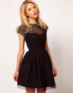 asos asos skater dress with embellished collar at asos With robe forme patineuse