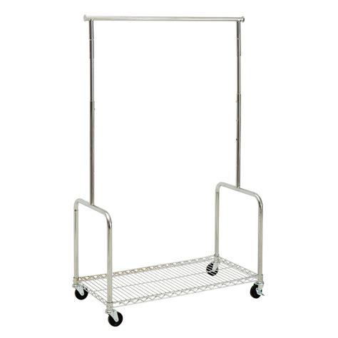 rolling shelf rack rolling clothing rack with shelf