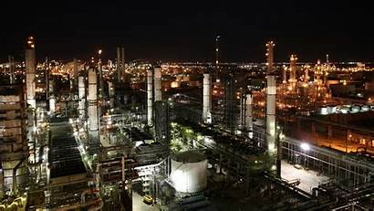 Industrial Background Night Chemical Plant Market Wallpapers