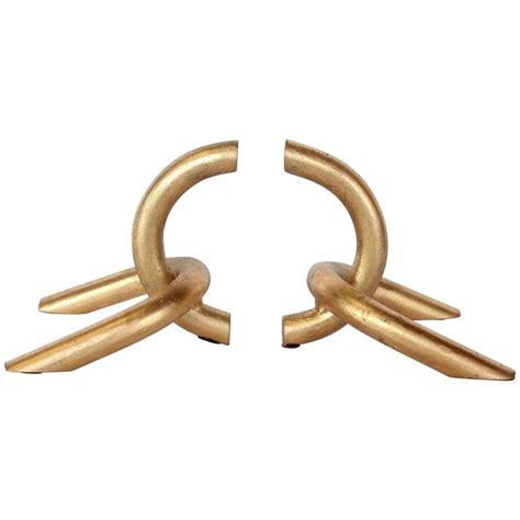 31008 link furniture modernist stylish modernist gilded chain link bookends for at