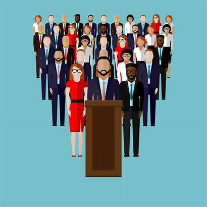 Vector Team Political Campaign Illustration Speaker Politician