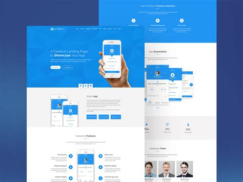 App Download Html5 Template by App Landing Html5 Template Freebie Download Photoshop