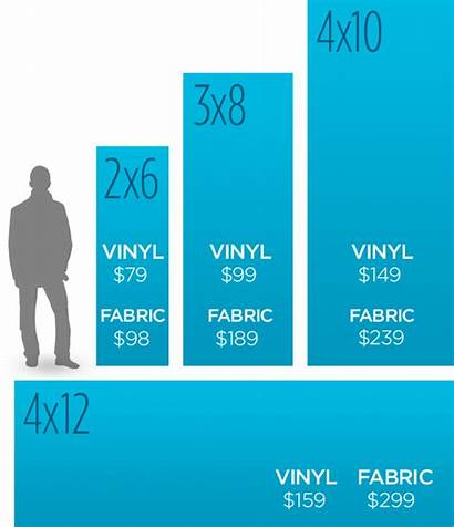 Pricing Banner Sizes Church Vinyl Banners Fabric