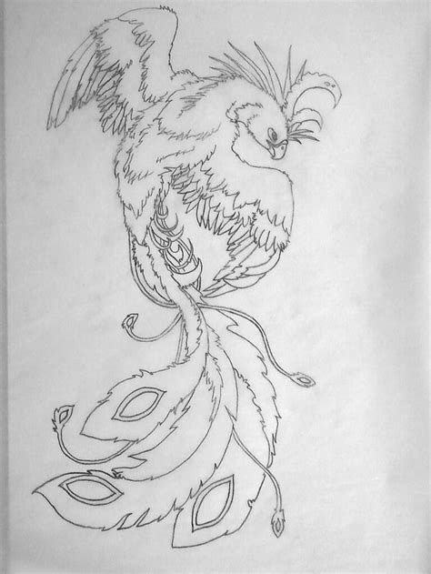 Phoenix Tattoo Sketch: Female by ~crazy4coral on deviantART   Tantalizing Tattoos   Forearm