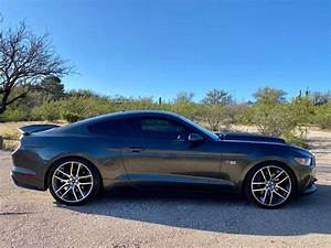 6th gen Gunmetal Grey Metallic 2016 Ford Mustang GT Premium For Sale - MustangCarPlace