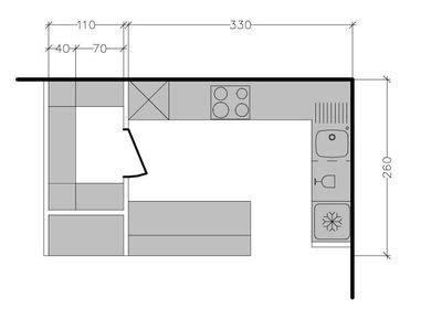 plan cuisine en parall鑞e plan amenagement cuisine 8m2 maison design bahbe com