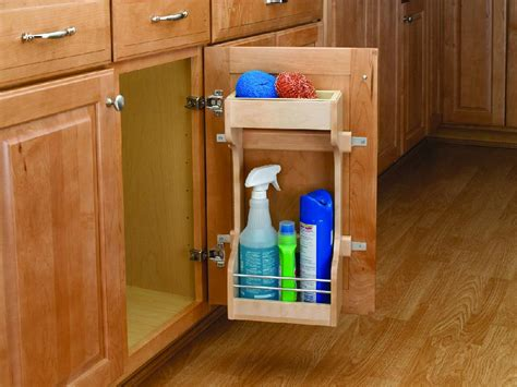 kitchen cabinet accessory 10 1 2 inch wood door storage organizer 4sbsu 15 2346