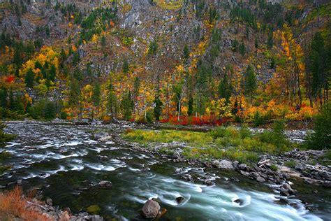 Wenatchee Fall Landscape,Tumwater Canyon | Wenatchee Fall ...