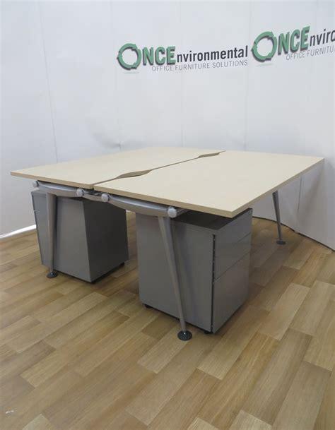 herman miller desks uk used desks herman miller abak maple bench 1600w x 1630d