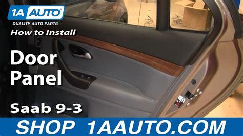 remove rear door panel   saab   youtube