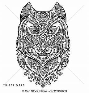 Tatouage Loup Graphique : tatouage style tribal totem vecteur loup tatouage ~ Mglfilm.com Idées de Décoration