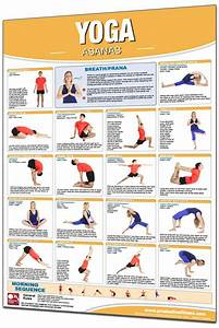 Yoga Asanas Postures Chart Productive Fitness 24 X 36 Laminated Fitness Poster