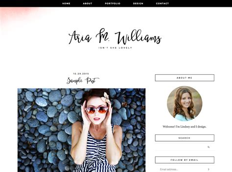 Personal Blog Design Template