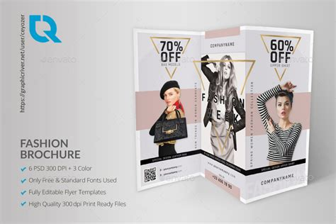 fashion trifold brochure  ceyozer graphicriver