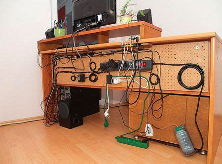 computer desk cable great cable management using a pegboard and zip ties