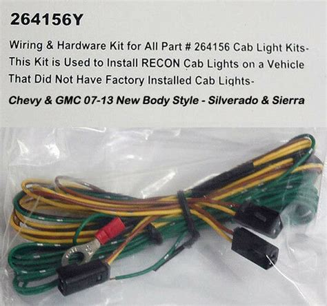 Gm Truck Light Wiring by 2007 2013 Chevy Silverado Gmc Hd Recon 264156 Cab Roof