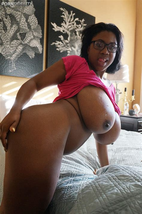 Busty Black Maserati Releases Gigantic Great Big Tits For