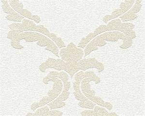 Vliestapete Weiss überstreichbar : vliestapete berstreichbar barock wei ap pigment 95163 1 ~ Michelbontemps.com Haus und Dekorationen