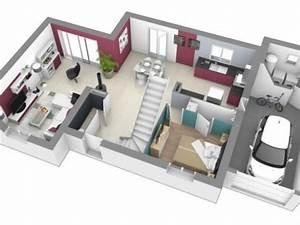 maison etage 3 chambres creches sur saone 71680 vente With plan de maison 120m2 7 maison cube 100 hci constructions