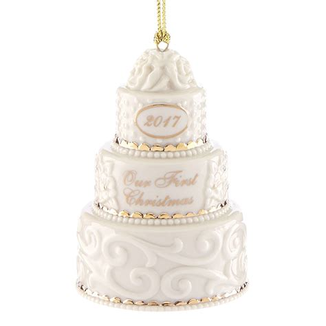 our first christmas ornament 2017 wedding cake lenox