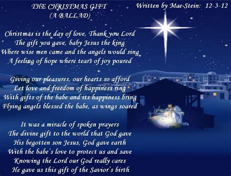 the christmas gift spiritual poetry