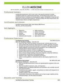 pharmacy tech resume ideas certified pharmacy technician resume sle resume exles certified nursing assistant 1