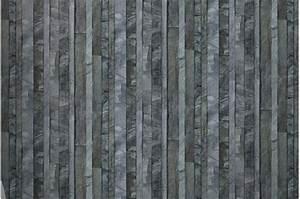 Papier Peint Brique Gris : papier peint ardoise lamelles grise papiers peints ~ Dailycaller-alerts.com Idées de Décoration