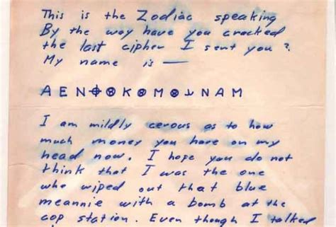 zodiac killer letters  order letter universe