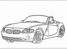Ausmalbild BMW Z4 Cabriolet Ausmalbilder kostenlos zum