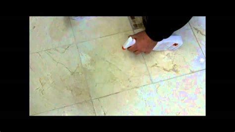 removing a wine stain from polished marble using tile