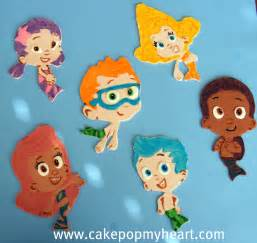 bubble guppies cake toppers cake pop my heart