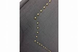Tete De Lit Tissu Gris : t te de lit 160cm tissu gris milano t te de lit pas cher ~ Teatrodelosmanantiales.com Idées de Décoration