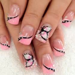 Butterfly nail art on designs