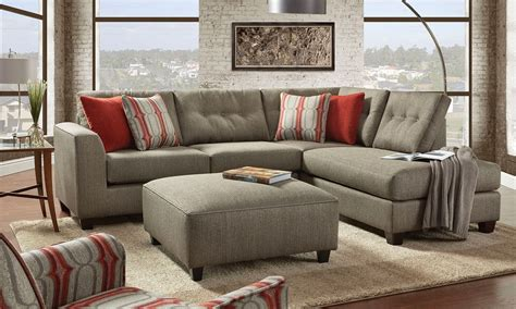 sectional with chaise and ottoman fusion handmade american chaise sectional sofa with ottom