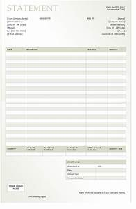 billing statement 2012 template sample With free invoice statements
