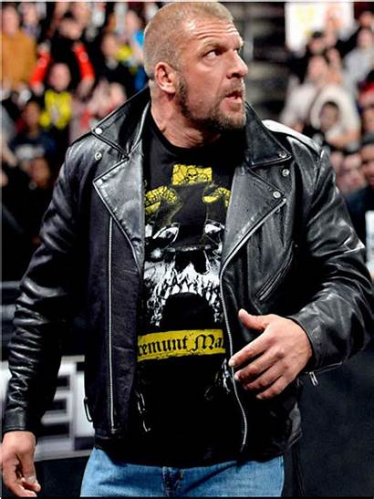 Triple Wwe Jacket Leather Raw Hhh Biker