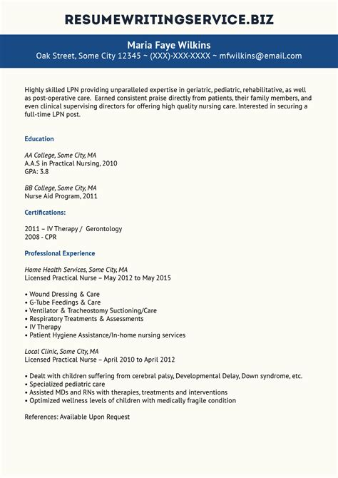 top quality lpn resume sle